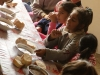 Manastirea children receiving a good warm meal