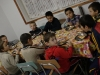 BOL Orphanage boys enjoying Pastor Mark's pizza