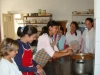 BOL girls making the food for widows and the elderly people